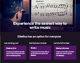 Sibelius Has An Option For Everyone